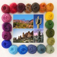 Weave the World - Desert - Weaving Kit #weaving #weavingkit Weaving Tools, Weaving Projects, Loom Weaving, Hand Weaving, Brown Sheep Yarn, Deserts Of The World, Fibre And Fabric, Ocean Colors, Muslin Bags