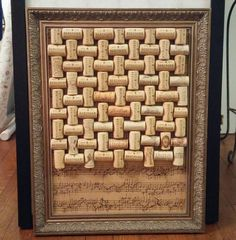 Gorgeous Cork Board to Cover an Eye Sore
