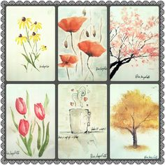 samples for an easy watercolors paintings that can be done in minutes !
