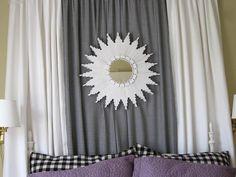 DIY home crafts  : DIY A Starburst Mirror