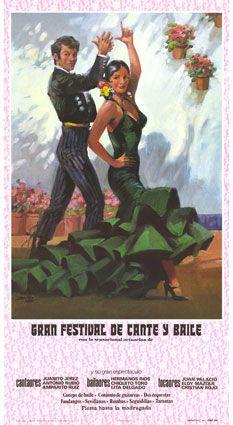 Vintage poster flamenco
