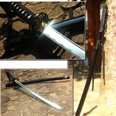 Japanese Blade BLACK SAMURAI Pocket antique Sword Kendo katana ninja blade sword #KZZANG