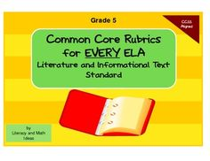 A rubric aligned to every specific Common Core Literature and Informational Text Standard. $4