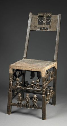Africa   Chief's chair or throne from the Chokwe people of Angola or DR Congo   Carved wood, animal skin and metal tacks   ca. early 20th century