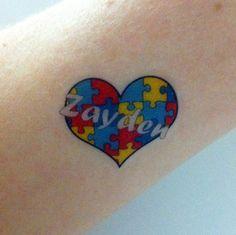 Custom Temporary Tattoos - Autism Awareness by Tatasaurus