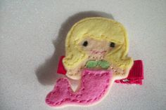 Boutique Embroidered Mermaid Felt Applique Hair by pachwilliamson, $3.00