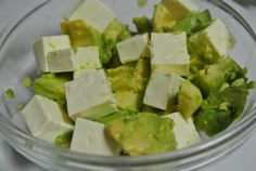 Avocado and cream cheese with a bit of lemon juice or soy sauce!