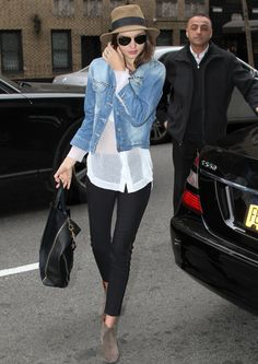 Miranda Kerr lookin cute. easy spring outfit inpiration