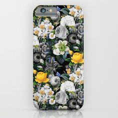 Check out society6curated.com for more! @society6 #floral #flowers #pattern #phone #case #phonecase #accessory #accessories #fashion #style #buy #shop #sale #cool #sweet #rad #awesome #fun #beautiful #beauty #pretty #botanical #iphone #products #product  #botanical #grey #gray #yellow #black #white