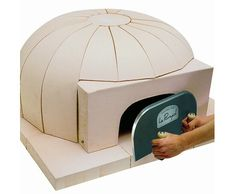 Gorgeous indoor pizza ovens to drool over—both how nice they look and what amazing pizza they must turn out. Pizza Oven Kits, Diy Pizza Oven, Pizza Ovens, Indoor Pizza Oven, Outdoor Oven, Diy Shed Kits, Oven Diy, Bread Oven, Wood Oven