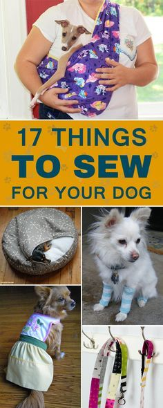 17 Cool Things to Sew for Your Dog is part of Dog clothes diy - Cute and easy sewing projects that you and your furry friend will love! Diy Pour Chien, Dog Clothes Patterns, Sewing Patterns, Dog Crafts, Dog Items, Dog Pattern, Animal Projects, Dog Sweaters, Dog Bandana