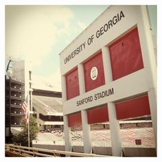 Sanford Stadium, the University of Georgia's Football Field! It's always great to see the Bulldogs play 'Between the Hedges'!