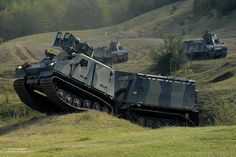 A Viking vehicle with Juliet Company of 42 Commando, Royal Marines and the Armoured Support Group(Viking) in Biza, Albania during Exercise D...