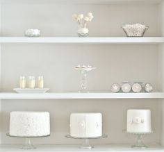 pure white dessert bar ~ 5 tips on styling your own dessert bar from a baker + food stylist http://su.pr/25gJfd