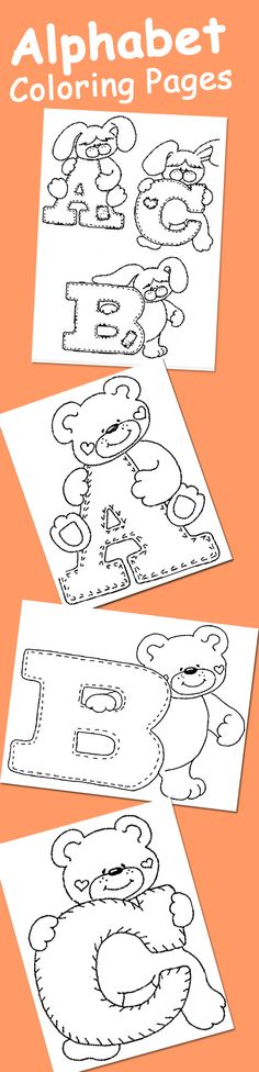 25 Alphabet Coloring Pages Your Toddler Will Love: Here are our pick of top 10 alphabet coloring sheets that will make ABC your child's best friends. Toddler Learning, Preschool Learning, Early Learning, Preschool Activities, Kids Learning, Alphabet Coloring Pages, Coloring Sheets, Colouring, Printable Coloring