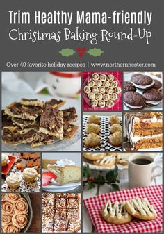 This Trim Healthy Mama Christmas Baking Round-Up features over 30 of your favorite holiday recipes - slimmed down! Cookies, cakes, bars, and rolls.