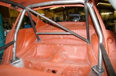 Porsche 911 roll cage - main loop with back stays plus diagonal Datsun Bluebird, Tube Chassis, Baja Bug, Honda Prelude, Drifting Cars, Roll Cage, Bmw E30, Modified Cars, Vw Beetles
