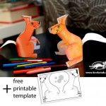 3D Squirrel – Cut, Fold and Glue
