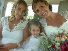 #countrywedding, #brideOnWayToChurch, #brideAndBridesmaid