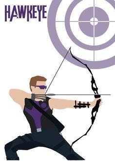Hawkeye fan art, based on Avengers movie