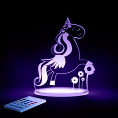 If your 4 year old is frightened at night then they will love having this Unicorn Sleepy Light as a companion. Great gift for any girls bedroom.