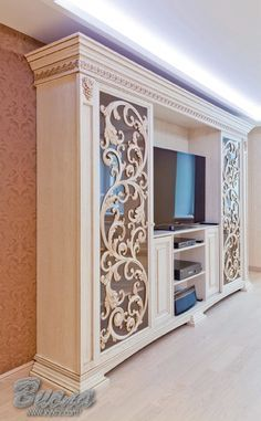 Cabinets made of solid wood. Buy with delivery all over Ukraine. - furniture interior - My Website 2020 Tv Unit Furniture, Home Decor Furniture, Diy Home Decor, Furniture Design, Tv Wall Cabinets, Rideaux Design, Living Room Decor, Bedroom Decor, Tv Cabinet Design