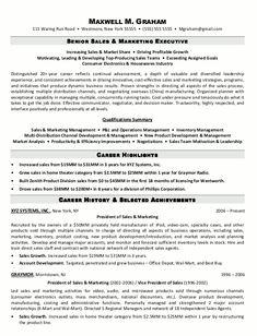 sample resume for sales executive httpwwwresumecareerinfo - Executive Resumes Templates