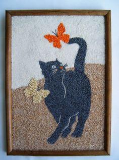 Arte con semillas on pinterest margaritas - Cuadros hechos con piedras de playa ...