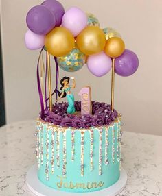 28 Simple Jasmine Cake ideas to inspire your birthday celebrations These trendy Food Recipes ideas would gain you amazing compliments. Check out our gallery for more ideas these are trendy this year. Jasmine Birthday Cake, Aladdin Birthday Party, Birthday Cake Girls, 5th Birthday, Princess Birthday, Bolo Crossfit, Princess Jasmine Cake, Princess Cakes, Princess Disney