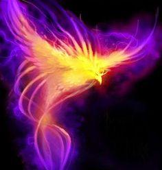 Unusual neon phoenix