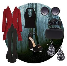 """""""Frightful frill"""" by rinkchick ❤ liked on Polyvore featuring Topshop, Miss Selfridge, Steve Madden, Alice + Olivia, Alexander McQueen and Thalia Sodi"""
