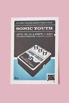 Kii Arens Sonic Youth Serigraph Art Print
