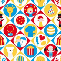 Circus pattern design by http://ankepanke.nl