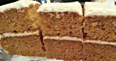 Yummy carrot cake from scratch by Wine-Y-Wife. :-)