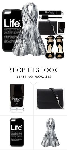"""""""B&W"""" by crayonroad ❤ liked on Polyvore featuring Butter London, Forever 21, Kenzo and Paul Andrew"""