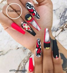 Different Nail Designing Tools. Putting together the fantastic nail cutting and nail art design isn't merely about coloration or style. Diva Nails, Glam Nails, Bling Nails, Cute Nails, My Nails, Stylish Nails, Trendy Nails, Best Acrylic Nails, Crazy Nails