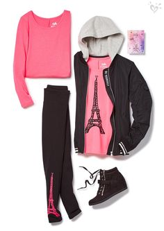 Pink Paris + basic black = so much to oh-la-love!