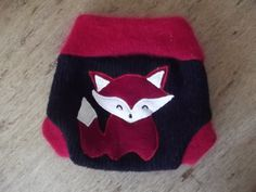 NEWBORN Wool Diaper Cover Red Fox Upcycled by smallwonderwoolies, $16.00