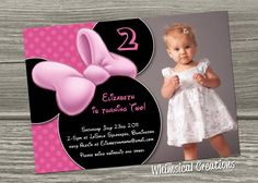 29 best minnie mouse birthday invitations images on pinterest minnie mouse birthday invitation digital file i design you print includes 50 off coupon for thank you card filmwisefo