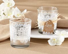 These Lace Glass Tealight Candle Holders are a rustic accent to your next event or home decor. Lace Glass Tealight Candle Holders are sold in sets of Vintage Wedding Favors, Candle Wedding Favors, Candle Favors, Bridal Shower Favors, Diy Wedding, Wedding Gifts, Wedding Decorations, Party Wedding, Party Favors