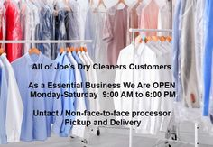 Untact /Non-face-to-face processor pickup and delivery - Joe's Organic Cleaners