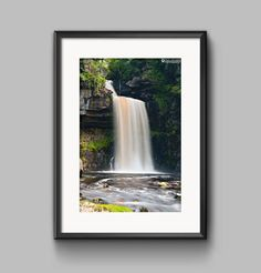 Thornton Force Waterfall, Yorkshire fine art print