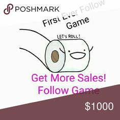 Lets Roll and get more followers & increase Sales Hey everyone it's my first ever FOLLOW GAME!  Im trying to expand my following. No particular goal amount. Just more followers.  How To Play 1.Like Post  2. Follow Everyone who likes it and who is tagged. 3. Tag some Friends.  4. Share. Free People Dresses