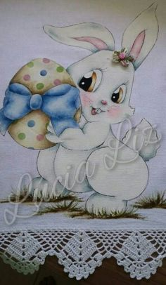 Coelhos Spring Projects, Easter Projects, Easter Crafts, Easter Pictures, Cute Pictures, Painting Patterns, Fabric Painting, Beatrice Potter, Color Pencil Art
