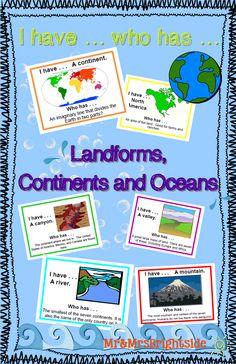 - Landforms, Continents, and Oceans Landforms Worksheet, Pronoun Activities, Social Studies Activities, 5th Grade Worksheets, School Worksheets, 4th Grade Social Studies, 5th Grade Science, Pronoun Lesson Plan, Classroom Map