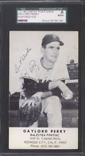 Gaylord Perry J D McCarthy postcard Giants