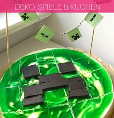 MinecraftParty Zum Kindergeburtstag Mit Deko Spielen Kuchen - Minecraft creeper spielen