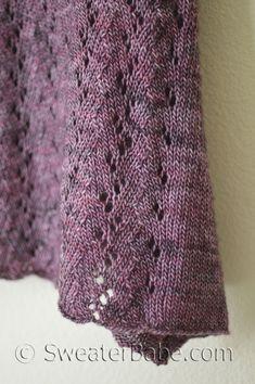 Angled Hem Madeline Tosh Tank knitting pattern. Coming soon! SweaterBabe Knitting Pattern
