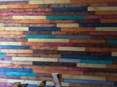 Love the pallet wall my husband and I created! This picture doesn't do it ju… – 2019 - Pallet ideas Pallet Accent Wall, Diy Pallet Wall, Pallet Art, Diy Pallet Projects, Pallet Walls, Pallet Ideas, Pallet Pictures, Tin Walls, Timber Cladding