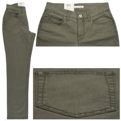 Form: 5381 ; Art.: 0309C ; Farbnr.: 661  Farbe: khaki (grün) Jeans  Form Gracia hat eine mittlere Leibhöhe und einen weiten Oberschenkel. Der Beinverlauf ist gerade. Fußweite 46cm.  Zusammensetzung: 97% Baumwolle und 3% Elasthan ergeben hohen Tragekomfort und lange Haltbarkeit. Pflegehinweis: waschbar bei 40 Grad.